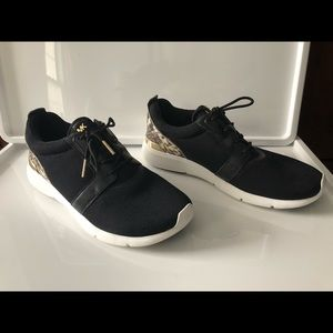 Michael Kors Black Snakeskin Sneaker 8 1/2